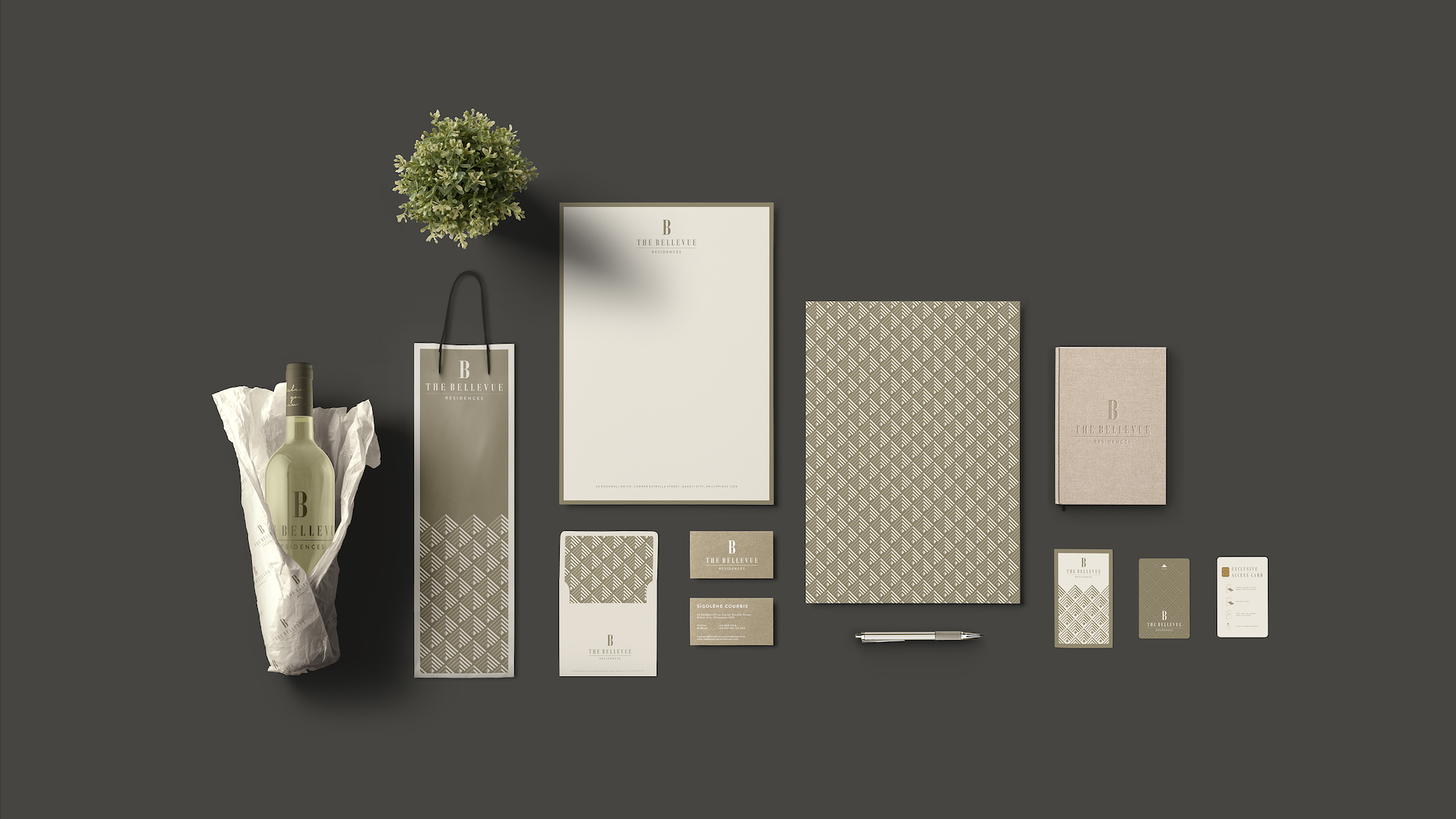 The Bellevue residences Branding Project by Fishfinger Design Agency