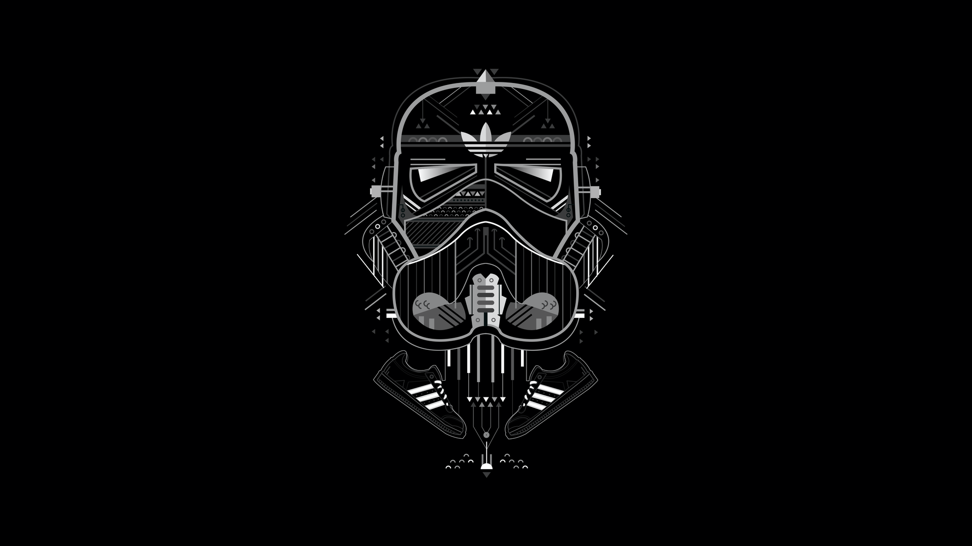 Adidas x Star Wars Illustration Project by Fishfinger Creative Agency